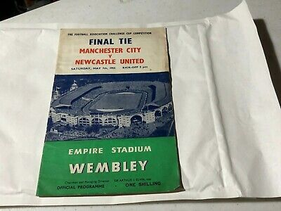 1955 FA Cup Final football programme Newcastle United v Manchester City