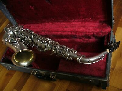 Conn 1928 Chu Berry alto sax in silver plate with a gold wash bell