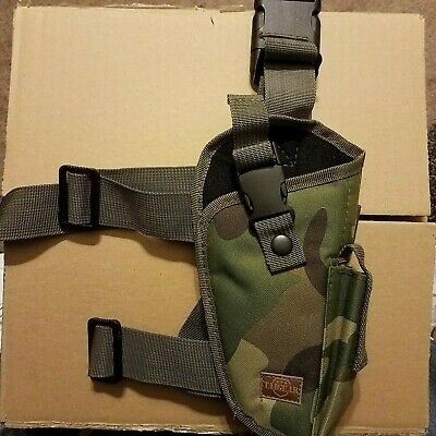 """Camouflage LEFT Hand Draw BANDOLEER Holster for ROSSI RANCH HAND w// 12/"""" barrel"""