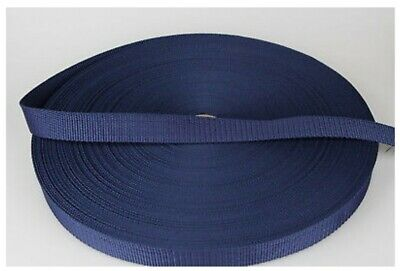 Polypropylene Webbing 25mm (1 inch) wide x 10 metre long rolls navy and grey