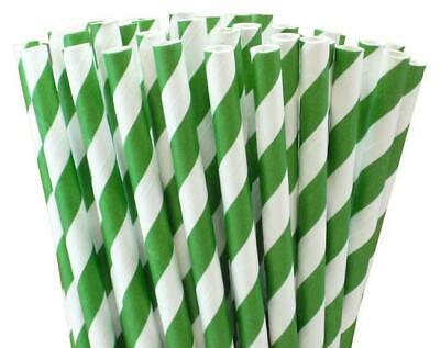 Fiesta Green Compostable Paper Straws Green Stripes Pack of 250 Length: 210mm