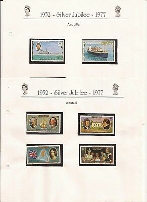 British Commonwealth-Silver Jubilee,Collection  Sets (Mnh) 1952-1977