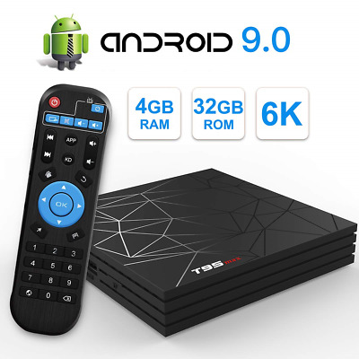 T95 Max Android 9.0 TV Box with 4GB RAM 32GB ROM Allwinner H6 Quad-Core CPU 6K