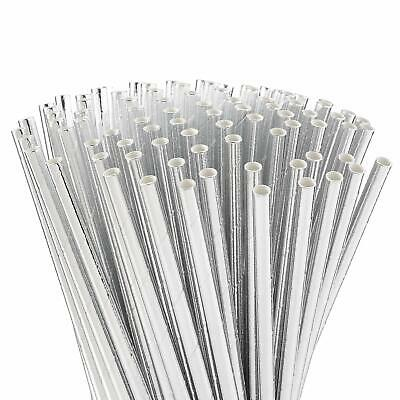 Fiesta Green Compostable Paper Straws Silver Pack of 250 Length: 210mm