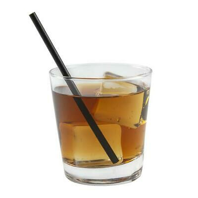 Fiesta Green Compostable CPLA Cocktail Stirrer Straws Black Length: 140mm