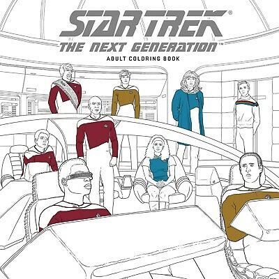 Star Trek The Next Generation Adult Coloring Book Borg Picard TNG Art New Mint