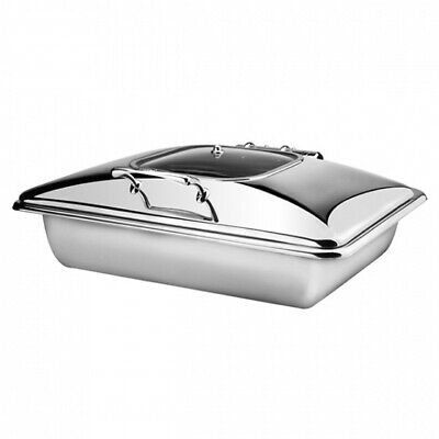 Athena Chafing Dish 1/1 Size Stainless Steel & Glass Induction & Fuel Heated