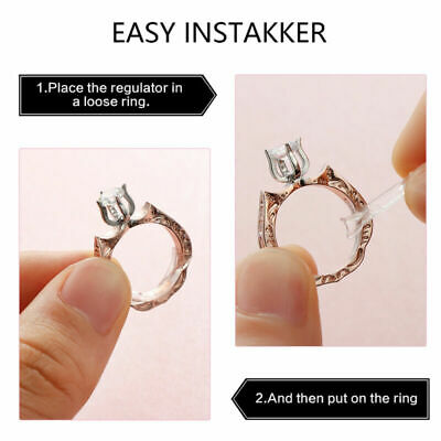 10Pcs Ring Size Adjuster Invisible Resizer Reducer Set Jewelry Perfect Fit Kit