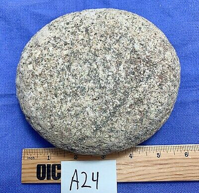 Native American Artifact Grinding Stone Round Flat Smooth Slab Indian Tool