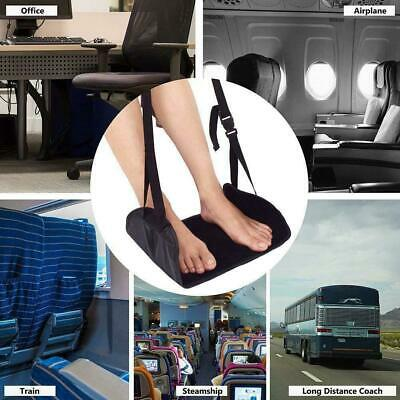 NEW Comfy Hanger Travel Airplane Footrest Hammock Carry Foot Rest Relax Black AU