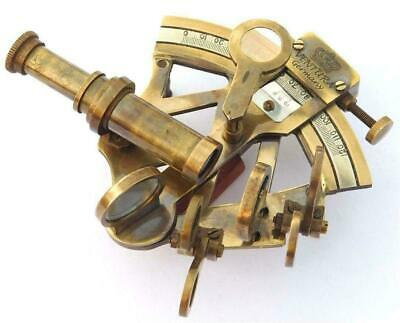 BRASS MARINE SEXTANT ASTROLABE ANTIQUE REPRODUCTION MARITIME NAUTICAL SHIP Gift