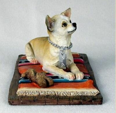 CHIHUAHUA TAN MY DOG  Figurine Statue Resin Hand Painted pet lovers gift