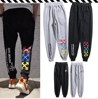 OFF#WHITE  Sports Pants Trouser Print  Leisure Tide Brand Pant Unisex 2019 New