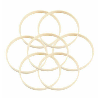 10pcs Wooden Bamboo Dream Hoops for Dream Catcher Ring Craft Tools 20cm