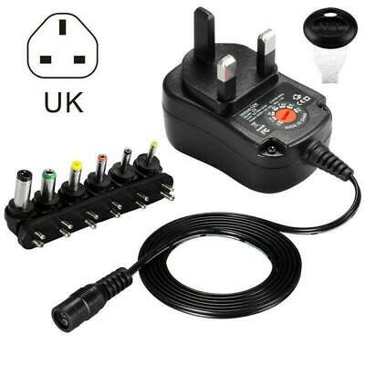 12W Universal AC / DC 3-12V Power Supply Adapter Charger Transformer with 6 Tip