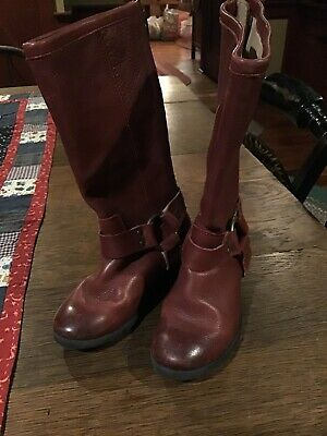 Frye Toddler Girls Burgandy Leather Boots....size 10.5