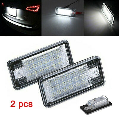 2pc Car LED License Number Plate Light Lamp Bulbs for Audi A3 S3 A4 A6 B6 B7 Q7