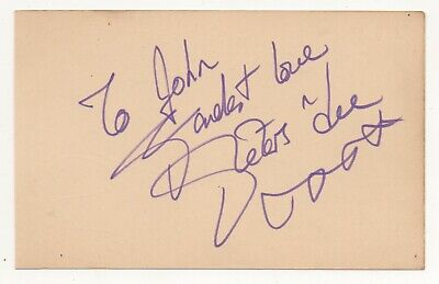 """"""" PETERS & LEE and BOBBY CRUSH  """"   -  Hand Signed Autographs."""