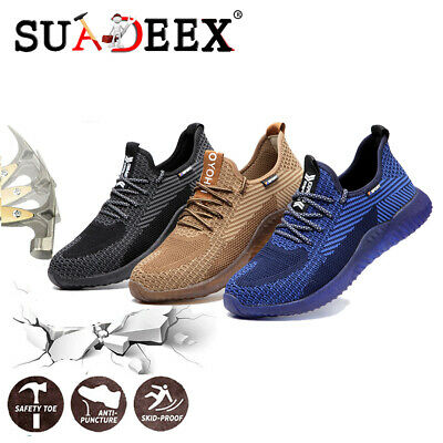 Mens Indestructible Steel Toe Cap Work Shoes Safety Sports Protective Sneakers