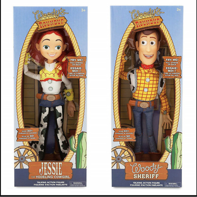 "WOODY Toy Story 3 Pull String JESSIE 16"" Talking Action Figure Doll Kids Toys"