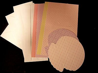 Hunkydory card blanks x 4, patterned, scored & die cut,  BN