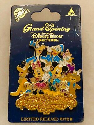 Mickey Mouse Minnie Goofy Donald Duck Chip Dale Pin Shanghai Disney Disneyland