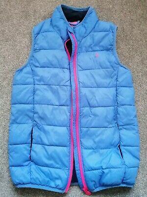 Girls JOULES Age 11-12 yrs Quilted Padded Body warmer Gilet Navy Full Zip VGC