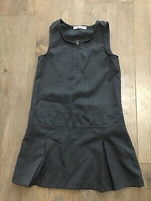 George Girls Grey School Pinafore Dress 5-6 Years K269
