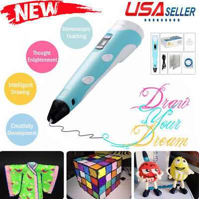 3D Printing Pen Doodler Drawing Printing Markers For Kids Children Present Toys