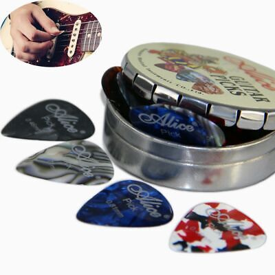 Round Metal Picks Box Alice Acoustic Electric Guitar Picks Mix Thickness