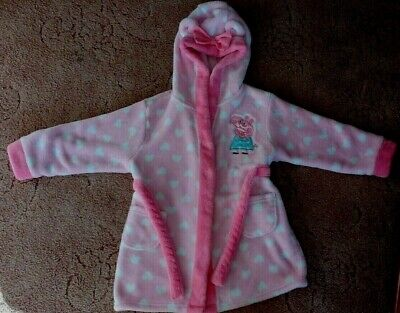 Peppa  Pig  Hooded  Dressing  Gown  -  Age  2-3  Years
