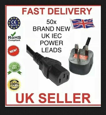 1.5M IEC Mains Power Leads Job Lot,Kettle Lead,Power Lead-FREE NEXT DAY DELIVERY