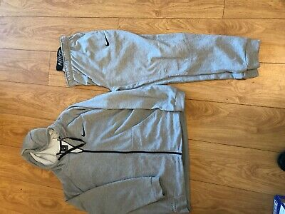 Mens Nike Dri-Fit Tracksuit Bottoms Large and jacket xl grey tracksuit