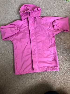 Girls Pink Waterproof Jacket Coat from Peter Storm - Age 5-6 Excellent Condition