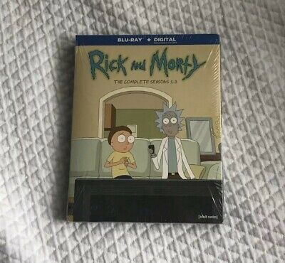 Rick and Morty the complete series (seasons 1-3) Blu Ray DVD disks