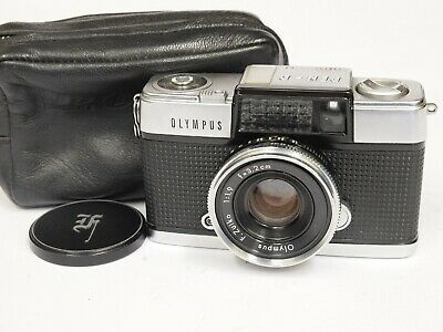 Olympus Pen D Half Frame 35mm Compact Camera with Case. Stock No u10710