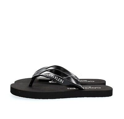 CALVIN KLEIN Unisex adult and guys KM0KM00341 FF SANDALS BLACK-001 BLACK