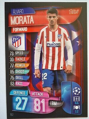 Match Attax 2019/20 Athletico Madrid Morata Base Card Comb Post
