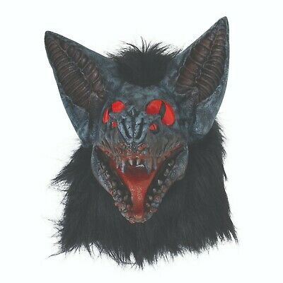 Black  Latex Rubber Fancy Dress Cat Mask One Size  2nd BIN