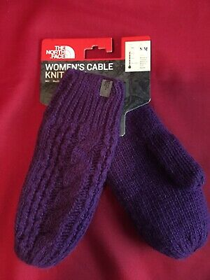 The North Face Cable Knit Mittens New with Tags Purple S/M MSRP: $40