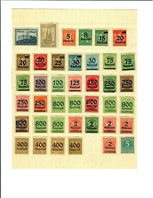 Collection of european stamps 1912-1928 (Germany, Belgium, Danzig, Bosnia, etc.)