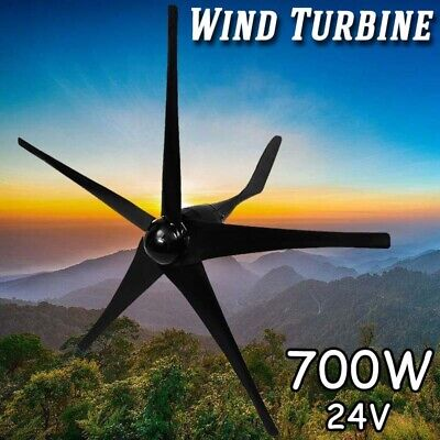 700W 5 Blades DC 24V High Power Wind Turbine Generator Battery Charge Controller