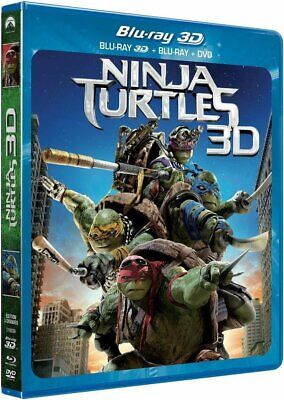 Ninja Turtles - 3D  [ Combo Blu-ray 3D + Blu-ray + DVD ]  NEUF cellophané