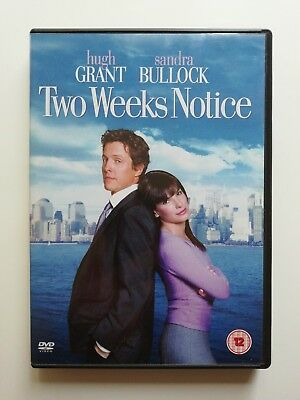 Two Weeks Notice DVD - Hugh Grant, Sandra Bullock - Used Excellent Condition B6