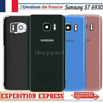 VITRE ARRIERE CACHE BATTERIE SAMSUNG GALAXY S7 G930+ADHESIF+Lentille Camera+LOGO