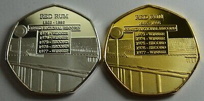 Pair of RED RUM RACEHORSE Silver, Gold Commemoratives. Album/Collectors/Filler
