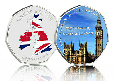 THE HOUSES OF PARLIAMENT Full Colour Commemorative GREAT BRITISH LANDMARKS 2020