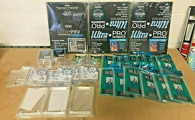 Ultra Pro Platinum Hologram Pages / Lucite Card Holders / Box Protective Lot