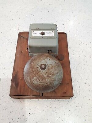Vintage GENTS OF LEICESTER 145 fire alarm Bell 3/6 volts