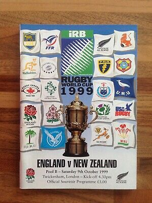 England V New Zealand Rugby World Cup 1999 Pool B Match Programme